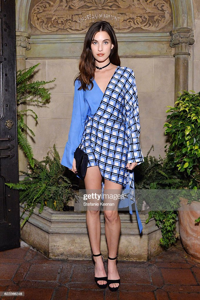 Rainey Qualley attends Lisa Love Hosts Dinner For Jonathan Saunders, New Chief Creative Officer Of Diane Von Furstenberg at Chateau Marmont on November 10, 2016 in Los Angeles, California.