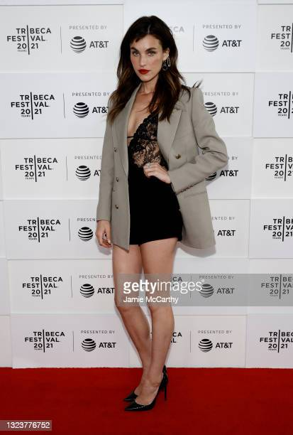 """Rainey Qualley attends the """"Ultrasound"""" Premiere during the 2021 Tribeca Festival at Pier 76 on June 15, 2021 in New York City."""