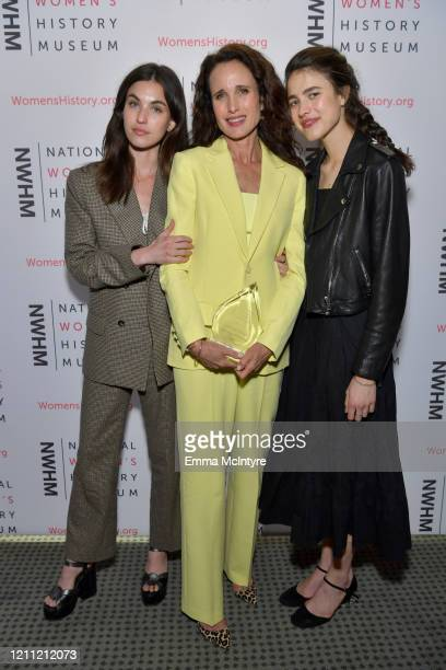 Rainey Qualley honoree Andie MacDowell and Margaret Qualley attend the National Women's History Museum's 8th Annual Women Making History Awardsat...