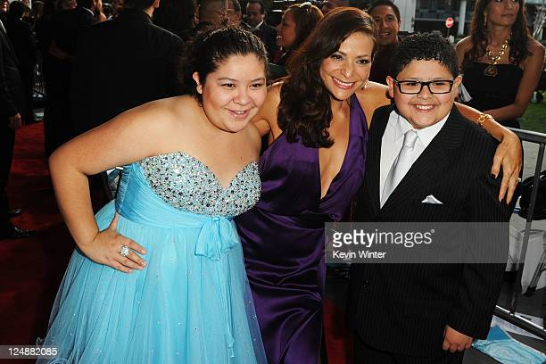 Raini Rodriguez actress Constance Marie and actor Rico Rodriguez arrive at the 2011 NCLR ALMA Awards held at Santa Monica Civic Auditorium on...
