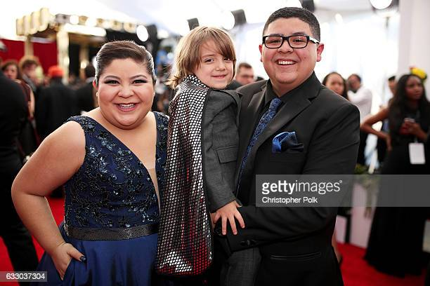 Raini Rodriguez Jeremy Maguire and Rico Rodriguez attend The 23rd Annual Screen Actors Guild Awards at The Shrine Auditorium on January 29 2017 in...