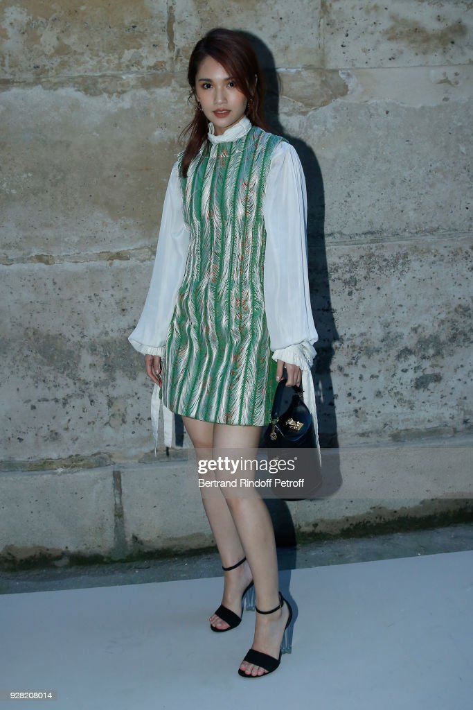 Rainie Yang attends the Louis Vuitton show as part of the Paris Fashion Week Womenswear Fall/Winter 2018/2019 on March 6, 2018 in Paris, France.