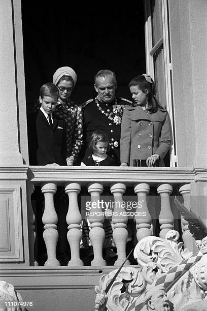 Rainier Grace Albert Caroline and Stephanie on National Day in Monaco Monaco on November 22nd 1969