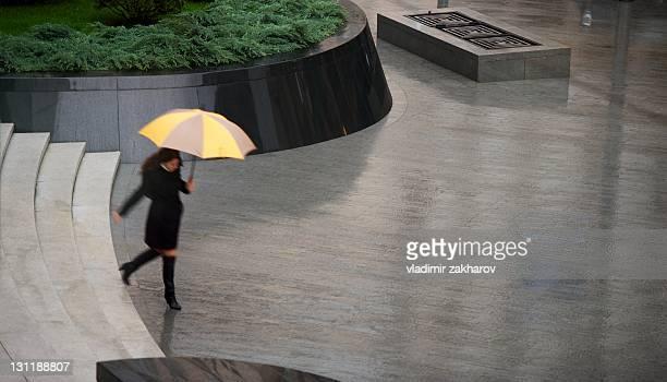 Raining  in city