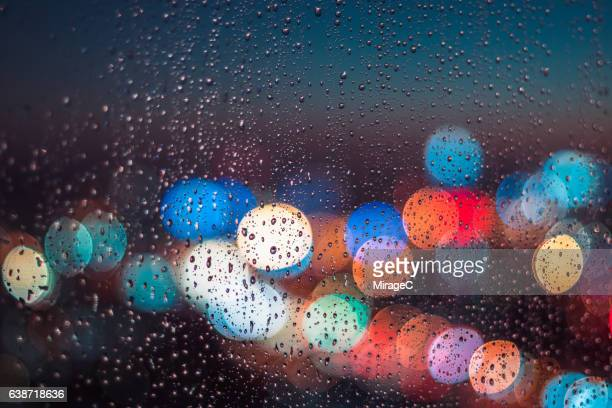 Raining Window in Night