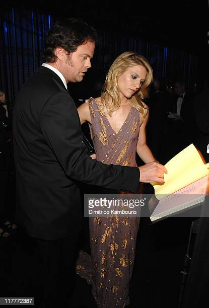 Rainn Wilson and Claire Danes during 61st Annual Tony Awards Backstage and Audience at Radio City Music Hall in New York City New York United States
