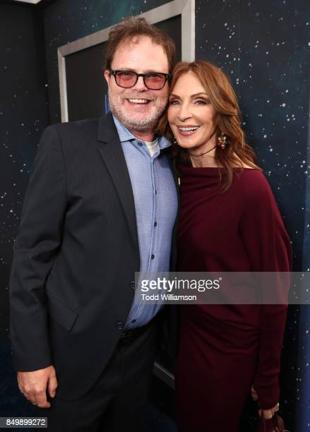 Rainn Wilson and Gates McFadden attend the premiere of CBS's Star Trek Discovery at The Cinerama Dome on September 19 2017 in Los Angeles California