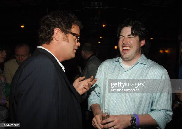 Rainn Wilson and Jason Reitman during My Super ExGirlfriend New York Premiere After Party at BED in New York City New York United States