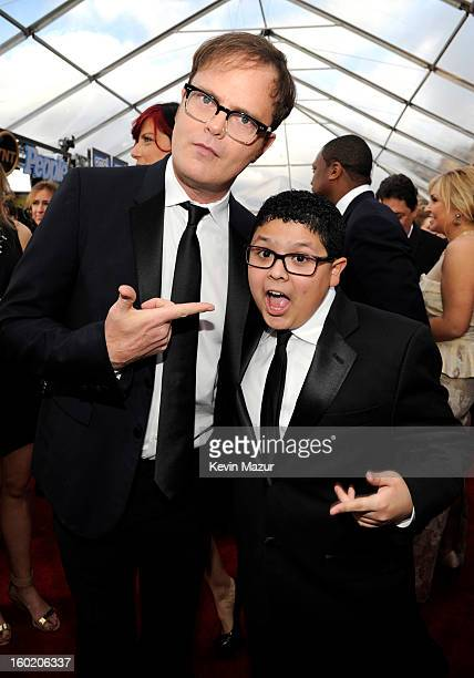 Rainn Wilson and Rico Rodriguez attend the 19th Annual Screen Actors Guild Awards at The Shrine Auditorium on January 27, 2013 in Los Angeles,...