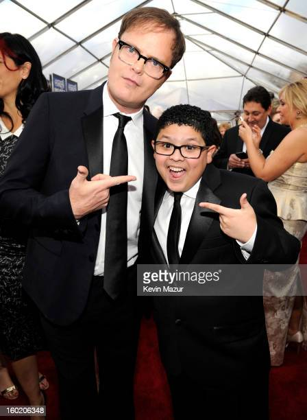 Rainn Wilson and Rico Rodriguez attend the 19th Annual Screen Actors Guild Awards at The Shrine Auditorium on January 27 2013 in Los Angeles...