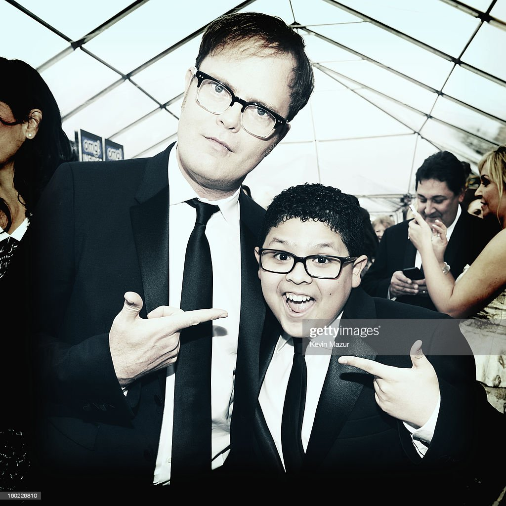 Rainn Wilson and Rico Rodriguez attend the 19th Annual Screen Actors Guild Awards at The Shrine Auditorium on January 27, 2013 in Los Angeles, California. (Photo by Kevin Mazur/WireImage) 23116_016_0462.jpg