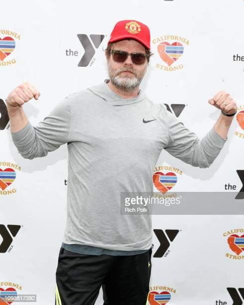 Rainn Wilson attends a charity softball game to benefit California Strong at Pepperdine University on January 13 2019 in Malibu California