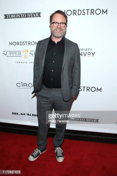 Rainn Wilson attends the Blackbird premiere party at Nordstrom Supper Suite during the 2019 Toronto International Film Festival at MARBL Restaurant...
