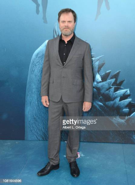 Rainn Wilson attends the premiere of Warner Bros. Pictures and Gravity Pictures' 'The Meg' at TCL Chinese Theatre IMAX on August 6, 2018 in...