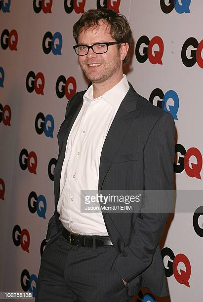 Rainn Wilson during GQ Man of the Year Awards Arrivals at Sunset Tower Hotel in Los Angeles California United States