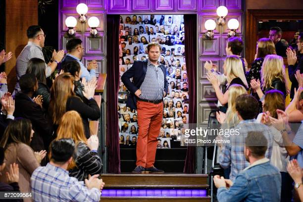 Rainn Wilson greets the audience during The Late Late Show with James Corden Tuesday November 7 2017 On The CBS Television Network