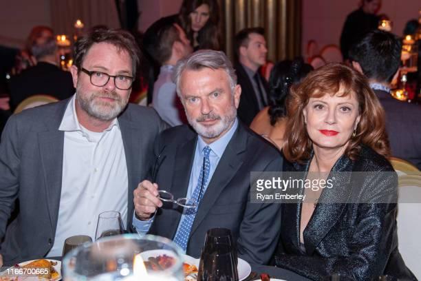 Rainn Wilson, Sam Neill and Susan Sarandon at the 11th APJ Festival Gala on September 07, 2019 in Toronto, Canada.
