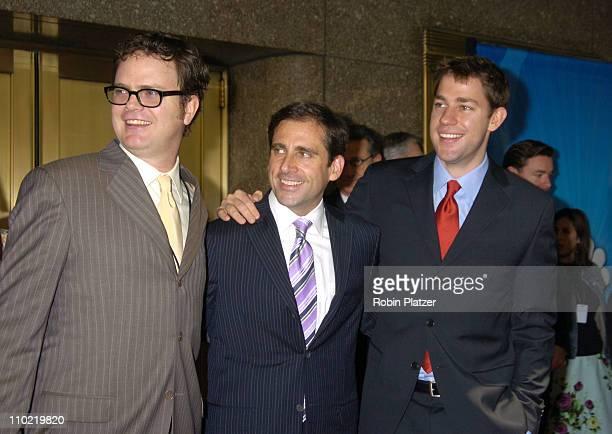 """Rainn Wilson, Steve Carell and John Krasinski of """"The Office"""""""