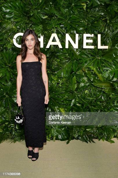 Rainsford Qualleywearing CHANEL attends Chanel Dinner Celebrating Gabrielle Chanel Essence With Margot Robbie on September 12 2019 in Los Angeles...