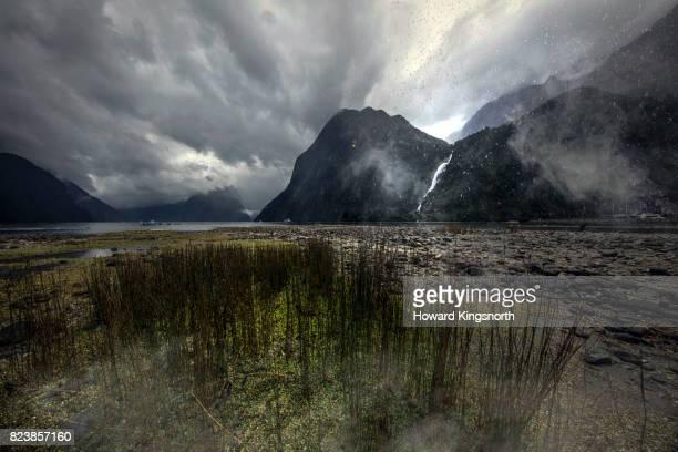 Rainstorm over Milford Sound