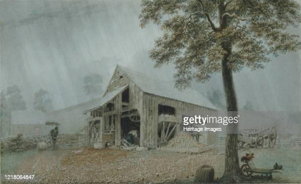 RainstormCider Mill at Redding Connecticut circa 1840 Artist George Harvey