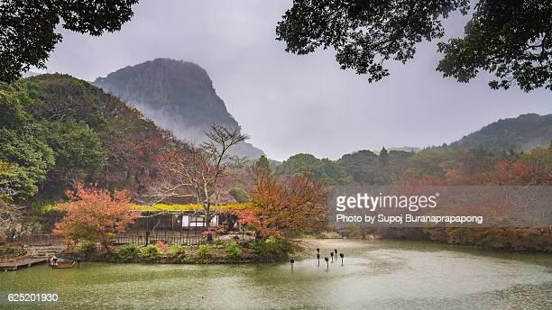 Rainy at Mifuneyama Rakuen Garden in Saga, Japan