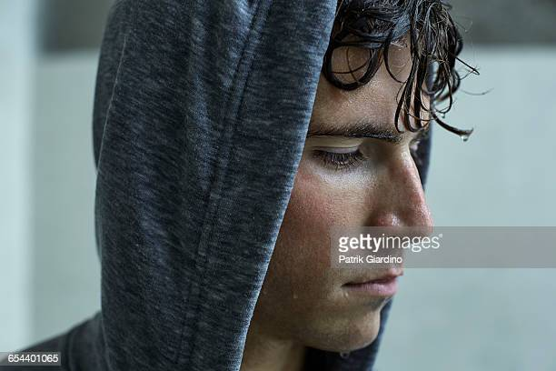 rainy day workout - black hair stock pictures, royalty-free photos & images