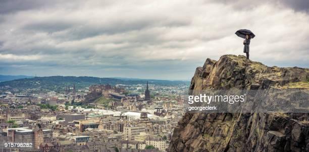 Rainy Edinburgh Panorama