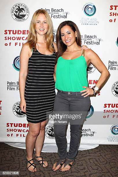 Rainy Kerwin and Narmar Hanna attend Palm Beach International Film Festival 2016 Filmmakers Meet And Greet on April 7 2016 in Manalapan Florida