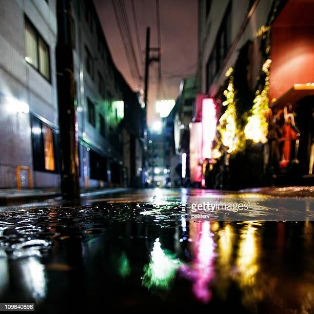 雨の日の夜のビッグシティ