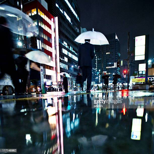 rainy la noche de la gran ciudad