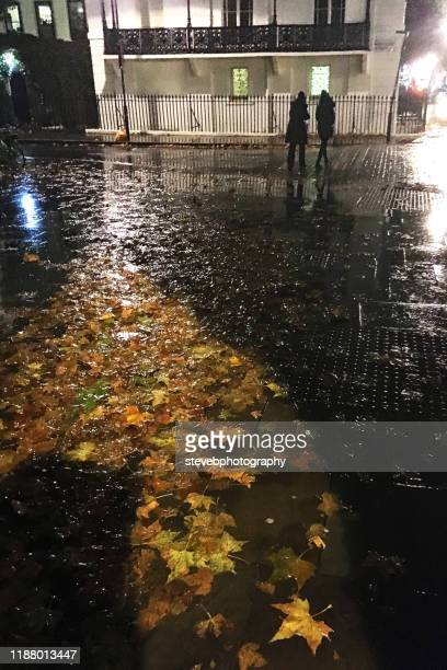 a rainy night in london - stevebphotography stock pictures, royalty-free photos & images