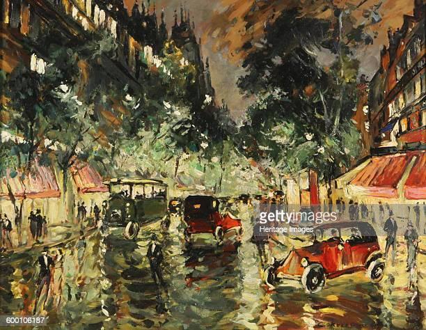 Rainy Night in Paris 1930s Private Collection Artist Korovin Konstantin Alexeyevich