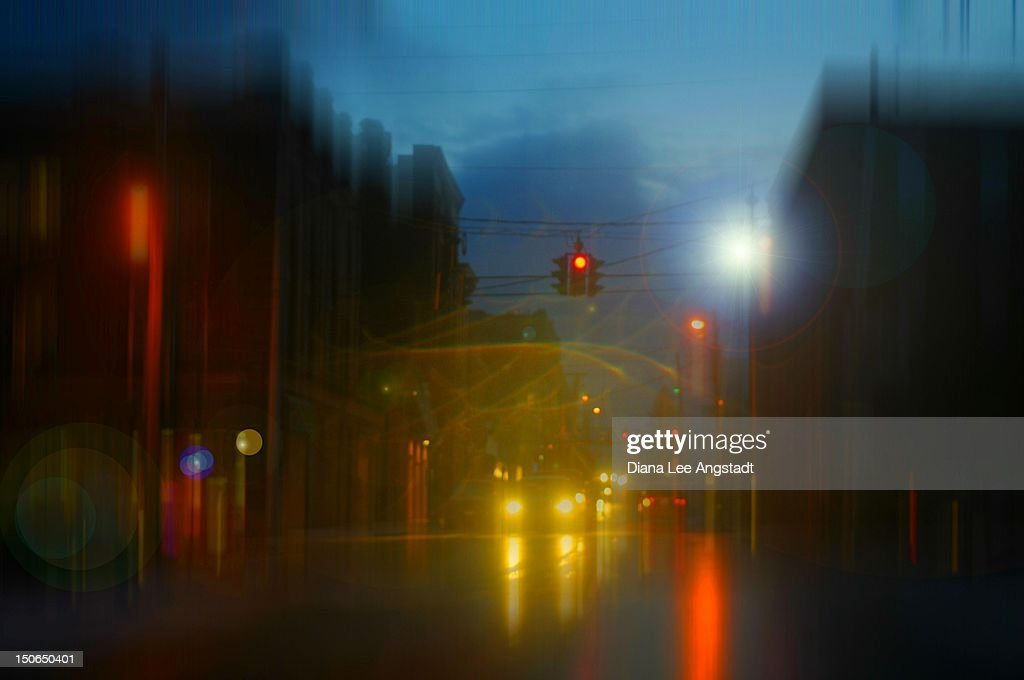 Rainy night : Stock Photo