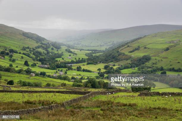 Rainy September day in the Yorkshire Dales, England