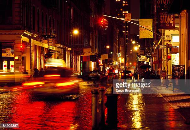 Rainy Soho New York City street
