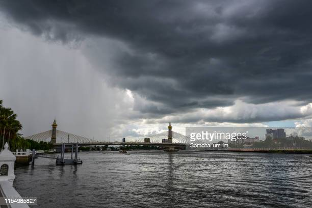 rainy storm and the sky is overcast - trinidad and tobago stock pictures, royalty-free photos & images