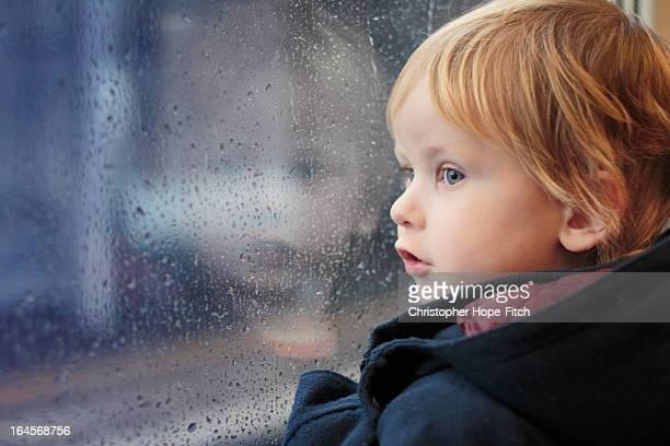 Rainy train journey