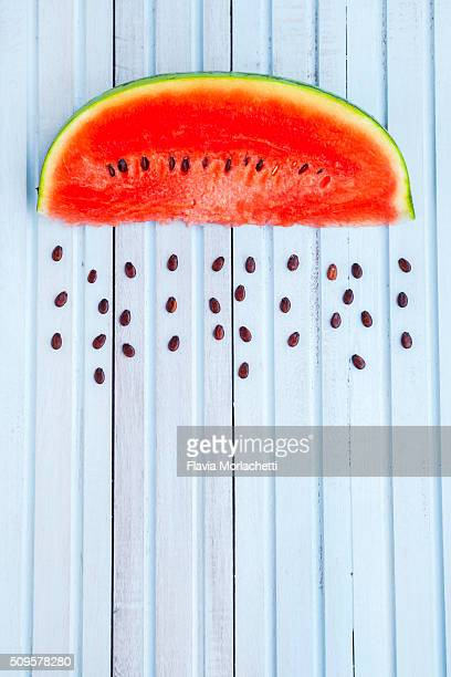 Rainy watermelon