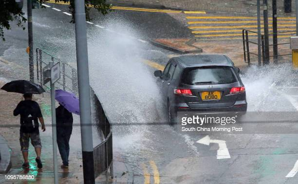 Rainy weather is seen in Commercial are in Admiralty Under the influence of an active southwesterly airstream more than 20 millimetres of rainfall...