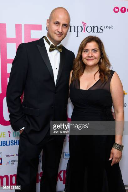 Raiomond Mirza and Nina Wadia attend the Rainbows Celebrity Charity Ball at Dorchester Hotel on June 1 2018 in London England
