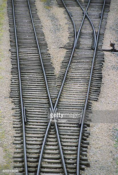 rairoad tracks in auschwitz-birkenau concentration camp - auschwitz concentration camp stock pictures, royalty-free photos & images