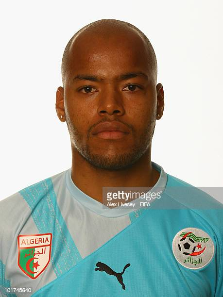 Rais M Bolhi of Algeria poses during the official FIFA World Cup 2010 portrait session on June 7 2010 in Durban South Africa