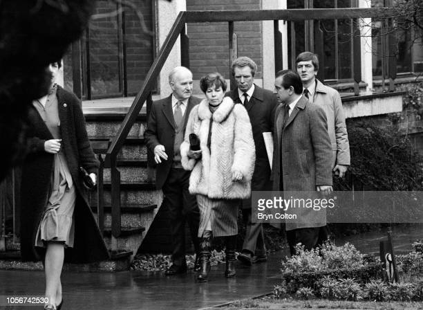 Raisa Gorbachev wife of Mikhail Gorbachev Russian Politburo member and second in line at the Kremlin dressed in a fur jacket as she visits to Anne...
