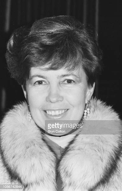 Raisa Gorbachev wife of Mikhail Gorbachev Russian Politburo member and second in line at the Kremlin stands dressed in a fur jacket as she poses for...