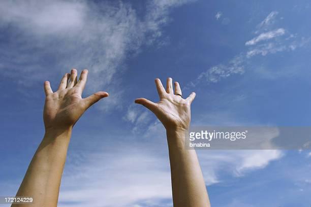 raise your hands - linkshandig stockfoto's en -beelden