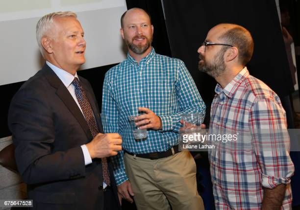 RaiseAChild Founder and CEO Rich Valenza Producer Brandon Crosby and Artist/Professor Andy Alexander attend the Reveal of the RaiseAChild's...
