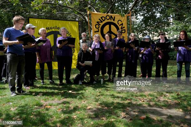 Raised Voices Choir perform during the commemoration People gather for the 74th Hiroshima annual commemoration of the atomic bombing in 1945 A one...