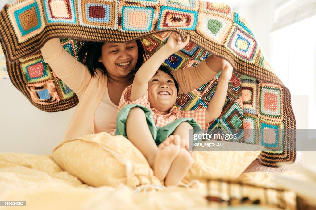 Raising a happy child : Stock Photo