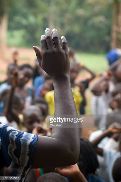 raising hands - black people praying stock pictures, royalty-free photos & images